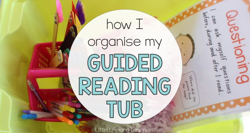 How I Organise my Guided Reading Tub