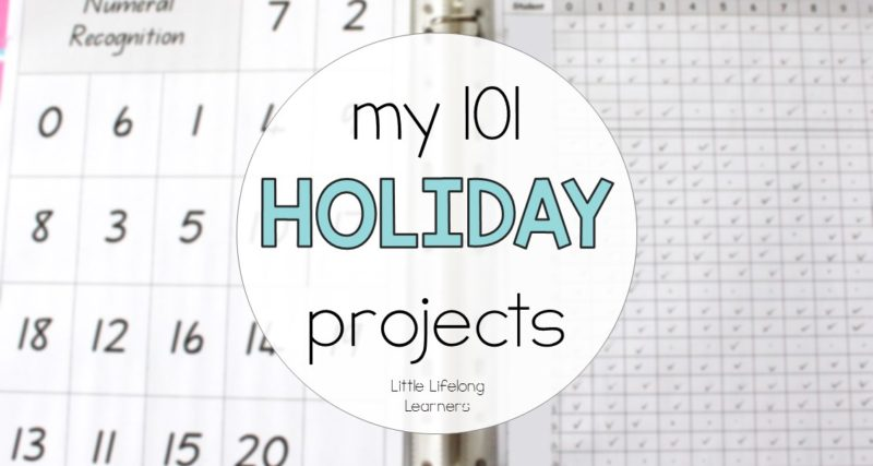 My 101 Holiday Projects
