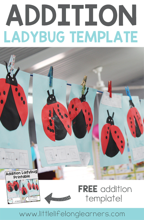 FREE Addition ladybug activity | Learning how to add | Hands on maths activity | Prep, Foundation and Kindergarten lesson ideas | Printables for Australian teachers | Australian Curriculum |