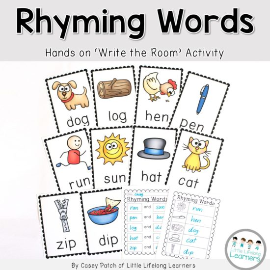 Rhyming Words - Write the Room Cover