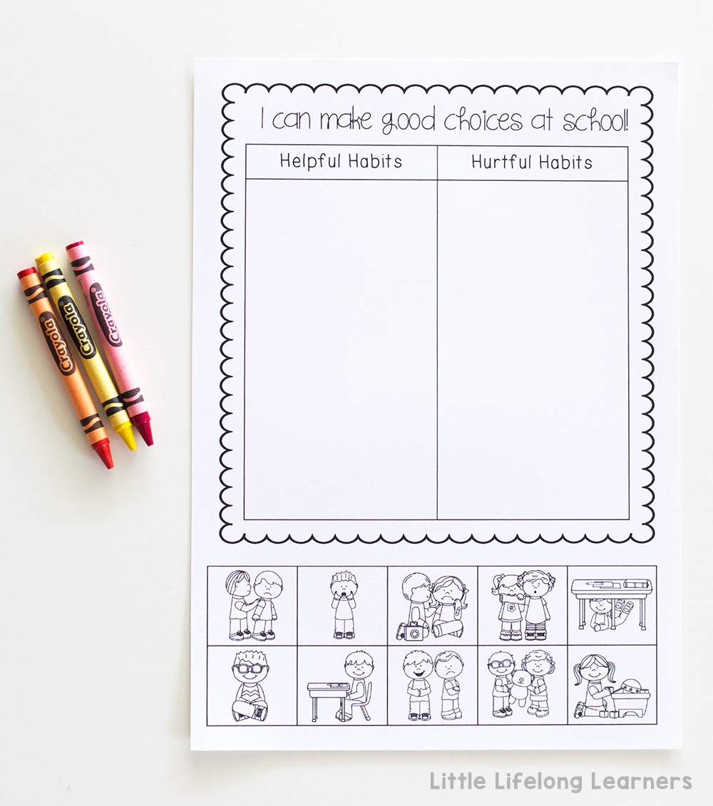 Behaviour management using picture sorts | Social stories for setting behaviour expectations and classroom rules | Australian Prep, Foundation, Kindergarten and Preschool teaching printables |