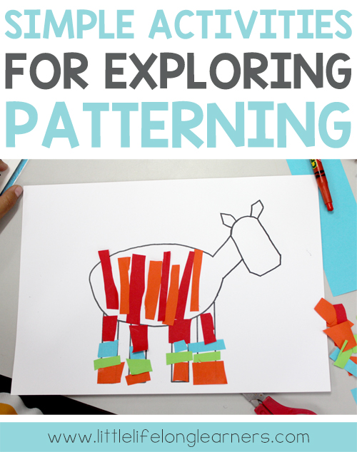 Simple activities for exploring patterning in the Prep, Foundation, Preschool and Kindergarten classroom | Hands-on learning | Australian Curriculum | Maths lessons for early childhood |