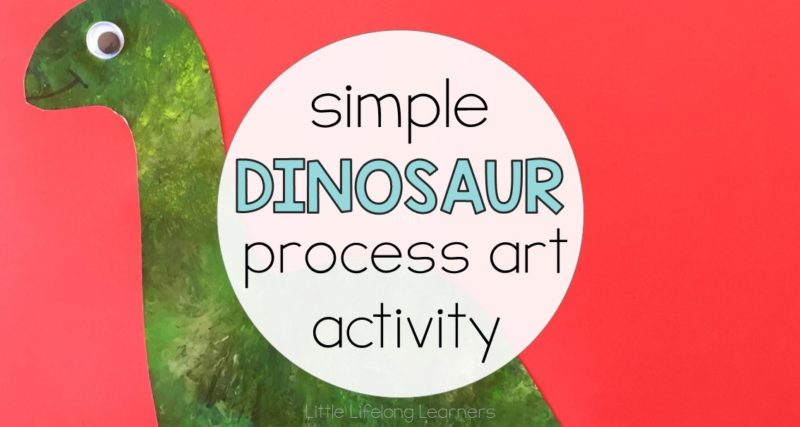 Dinosaur Process Art Activity