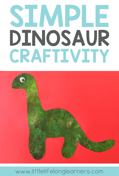 Simple Dinosaur Craftivity | art for kindergarten students | prep creative project | hands on learning | dinosaur unit of work |