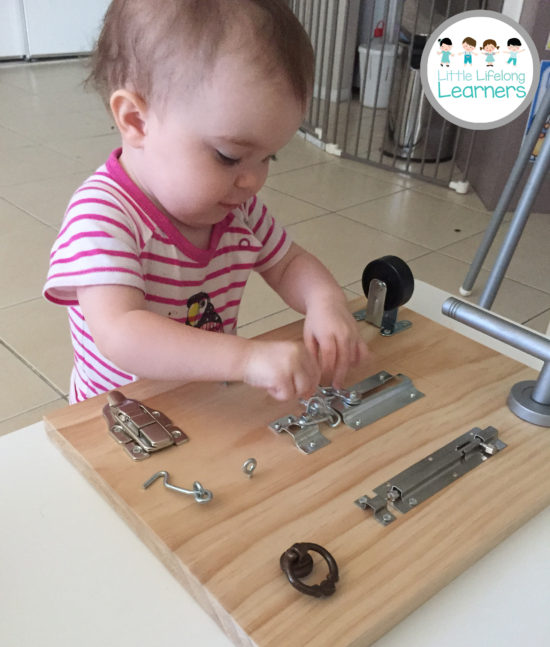 DIY Latch Board for Toddlers 4