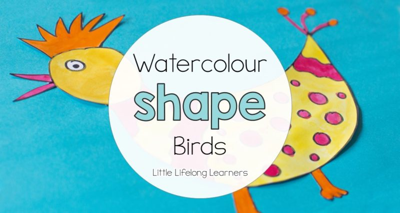 Watercolour Shape Birds