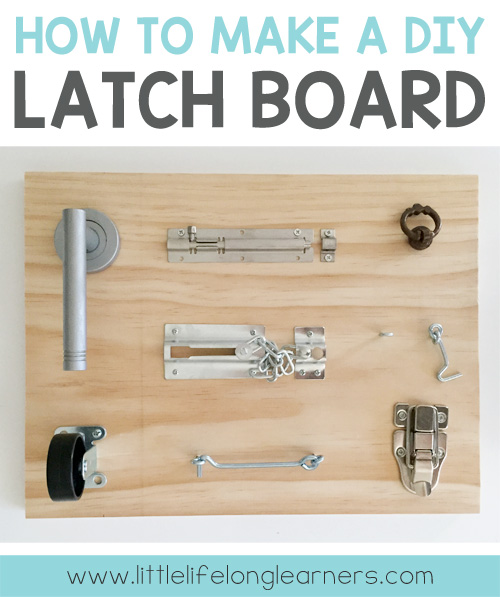 DIY Latch Board for Toddlers and Babies   Fine motor skills   DIY toys for toddlers