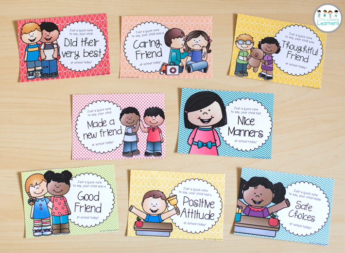 Building positive relationships with parents with behavior postcards
