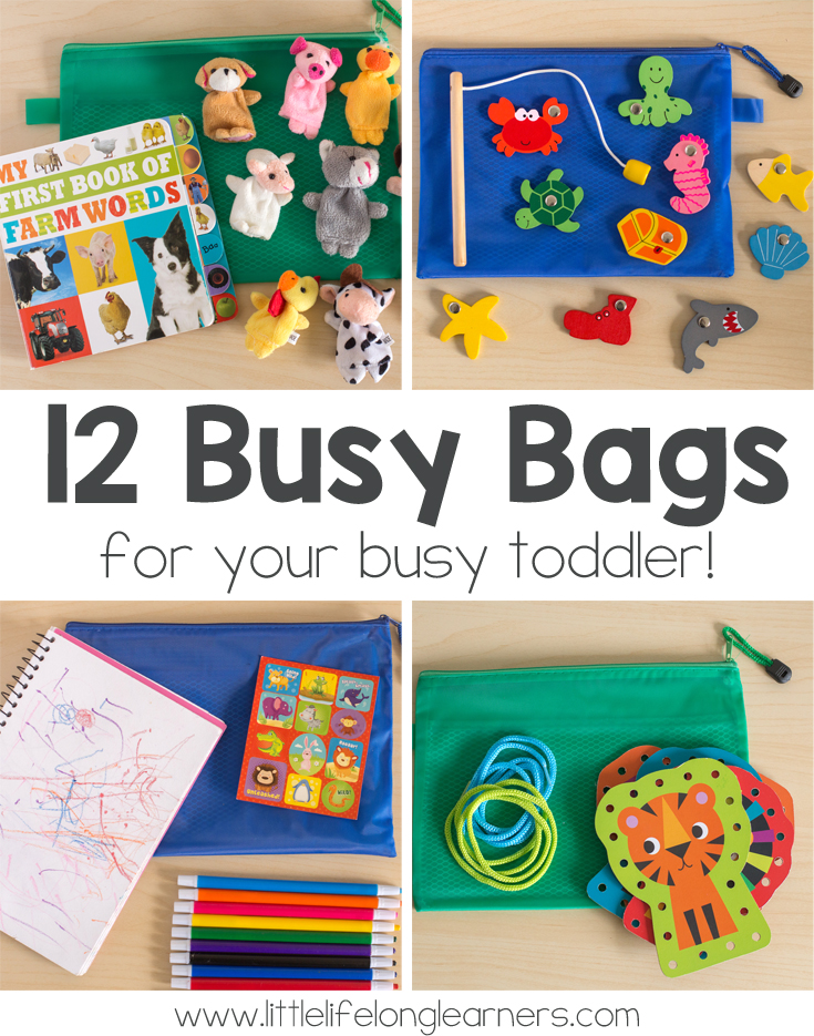 12 Busy Bags For Toddlers Little Lifelong Learners