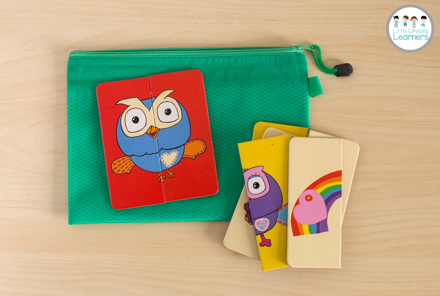 Busy Bags for Toddlers - 2 part puzzles
