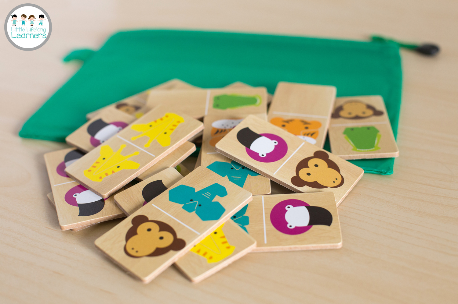 Busy Bags for Toddlers - Animal Dominoes
