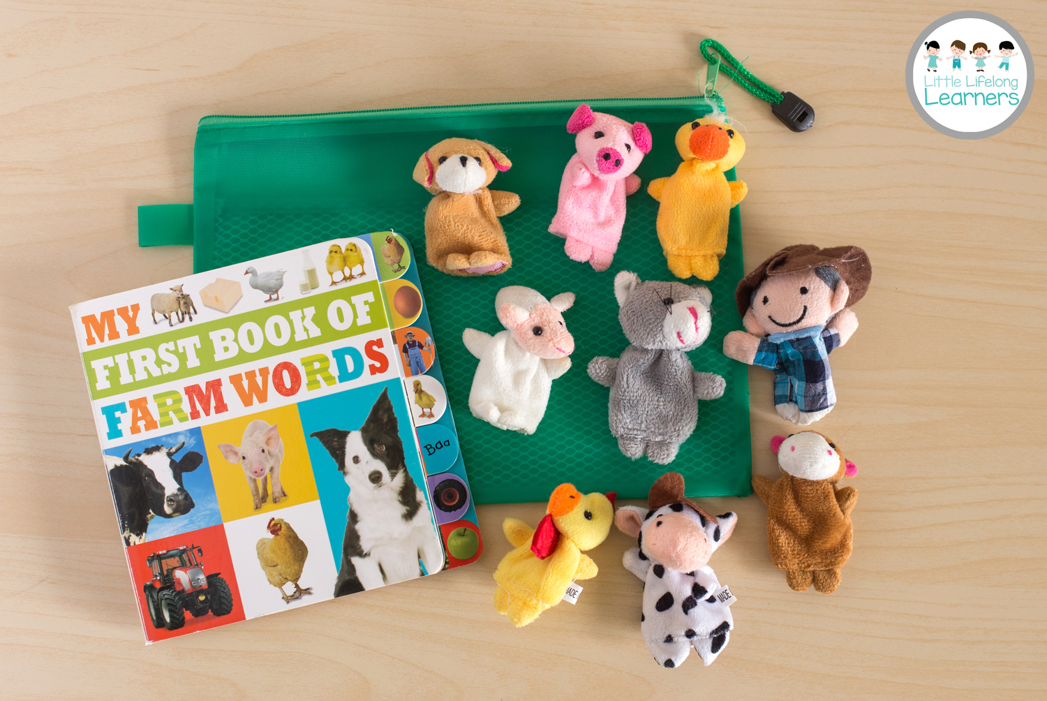 Busy Bags for Toddlers - Farm Finger Puppets