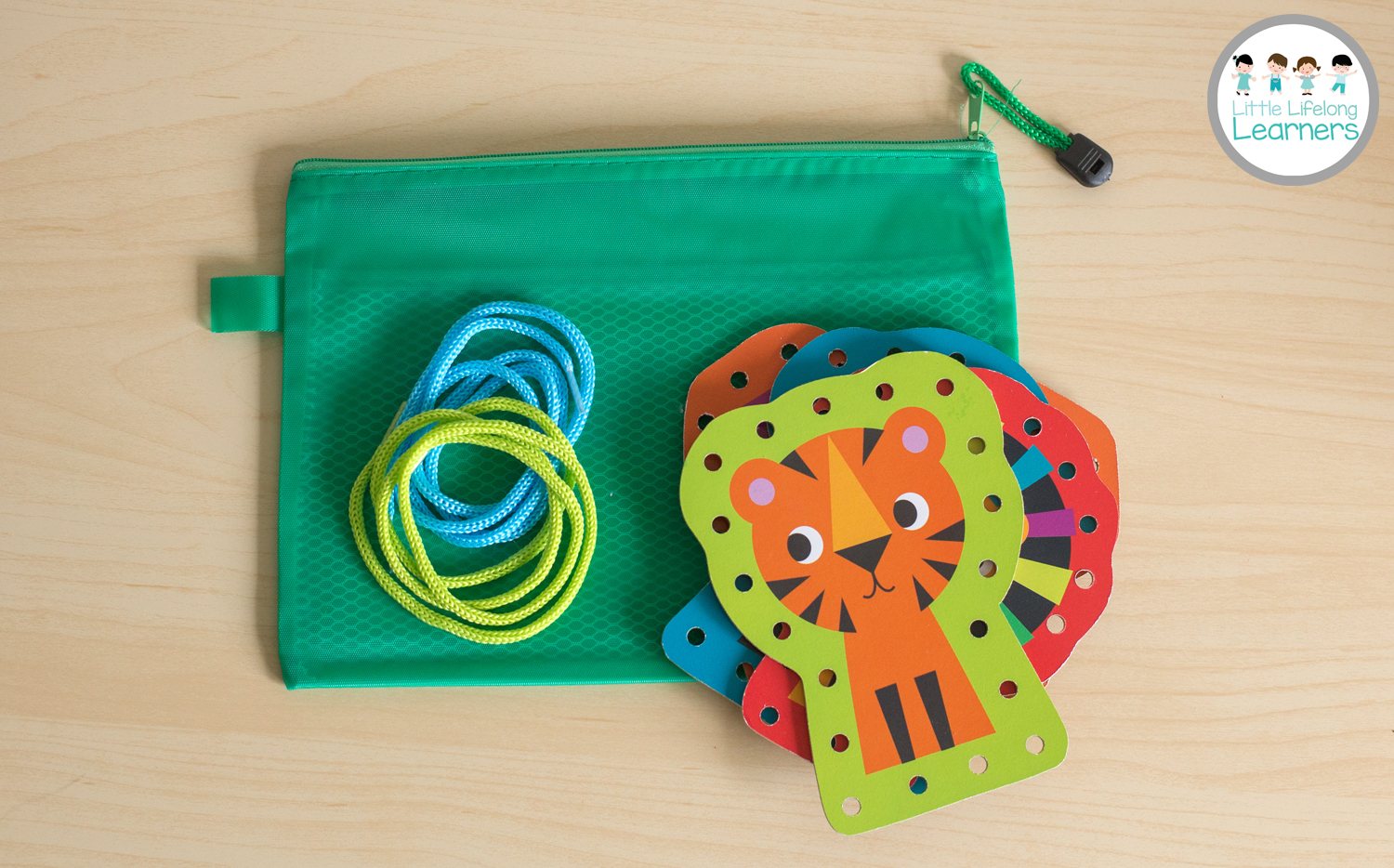 Busy Bags for Toddlers - Lacing Cards