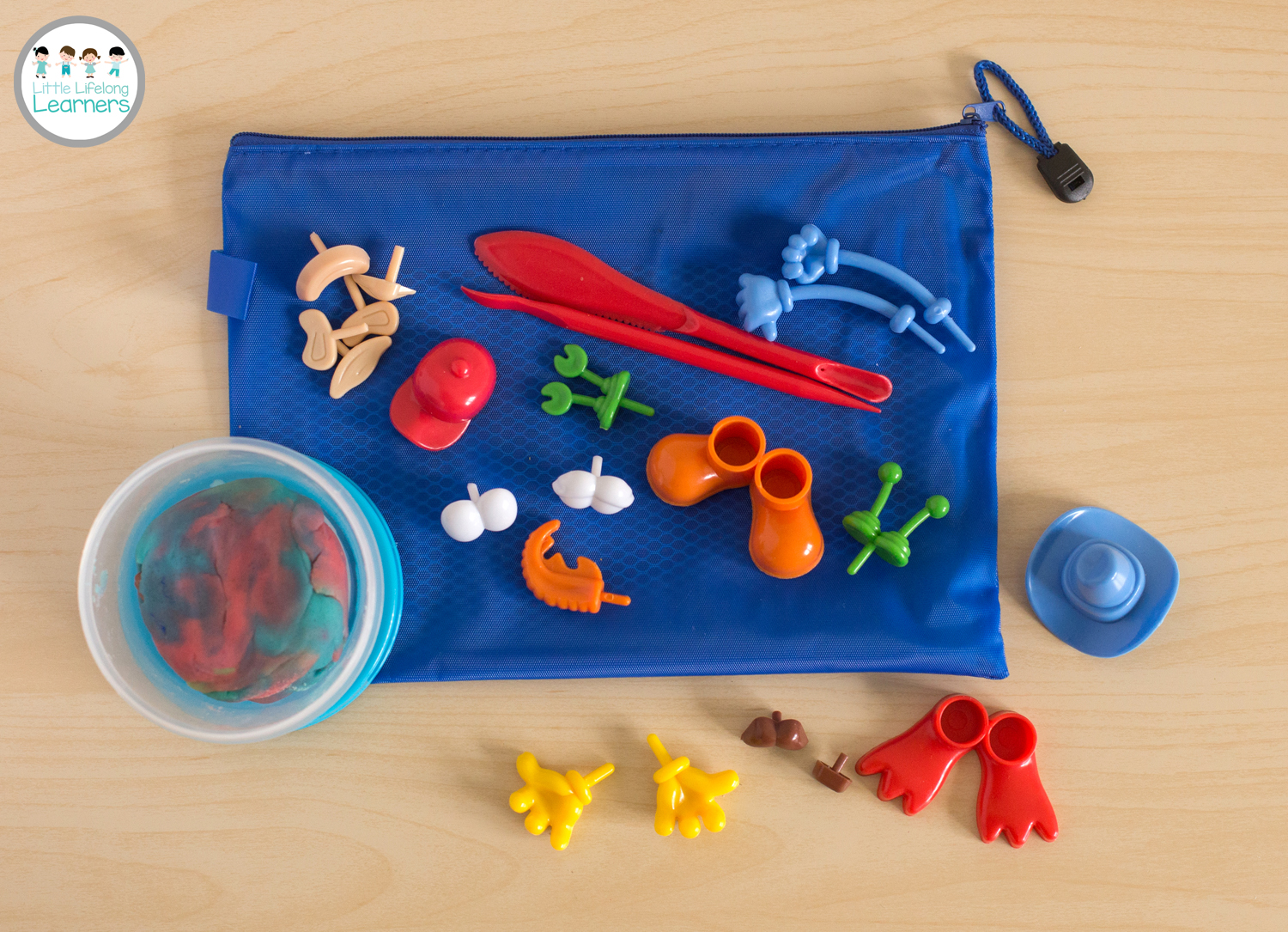 Busy Bags for Toddlers - Playdough Monsters