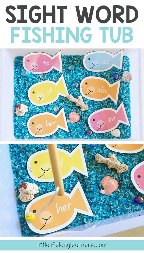 Sight word fishing game for kindergarten students | editable template | sight word games | sight word activities | games for reading groups