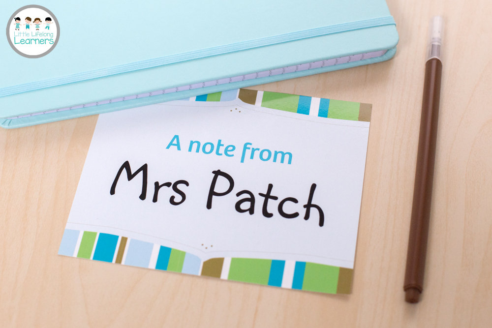 Vistaprint for the Classroom - A note from the teacher postcard