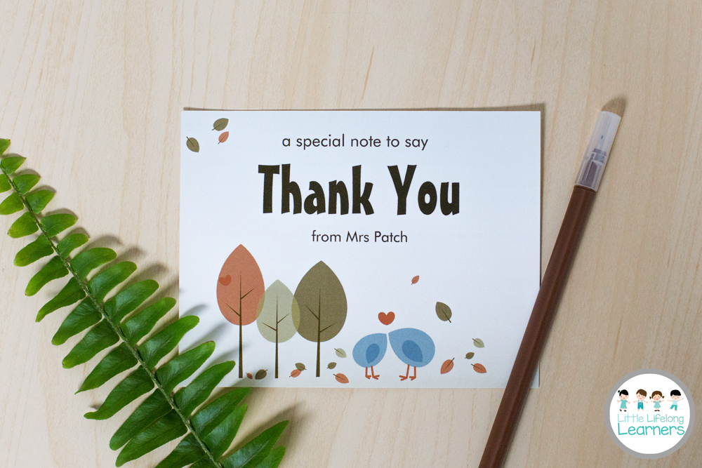 Vistaprint for the Classroom - A note to say thanks