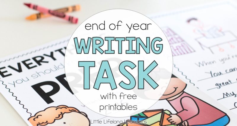 End of Year Writing Task for Prep Students