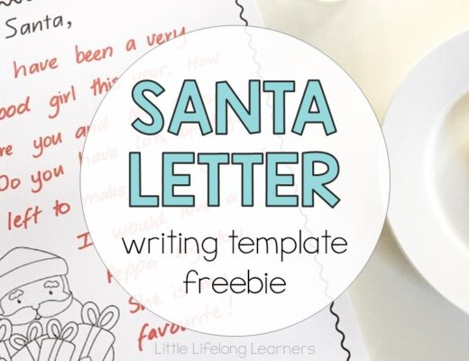 Dear Santa Letter Writing Template freebie | free Christmas printables
