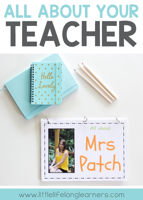 All about your teacher - Back to school book about the teacher | Prep, Foundation, Kindergarten class | Easy project for your new classroom | Printables for Australian early childhood teachers |