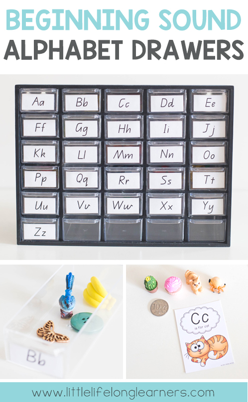 Beginning Sound Alphabet Drawers | Hands-on activities for Phonic and Letter Sound Knowledge | Montessori inspired | Australian Prep, Foundation, Kindergarten Teachers | Free classroom printables |