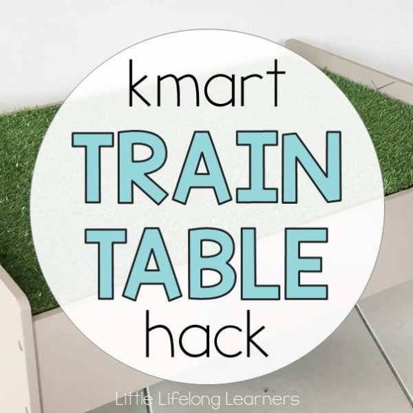 Kmart Train Table Hack for Small World Play | Imaginative Play to develop Early Language Skills | Classroom furniture hack | Play room inspiration | Prep, Kindergarten, Preschool and Foundation Classroom Inspiration