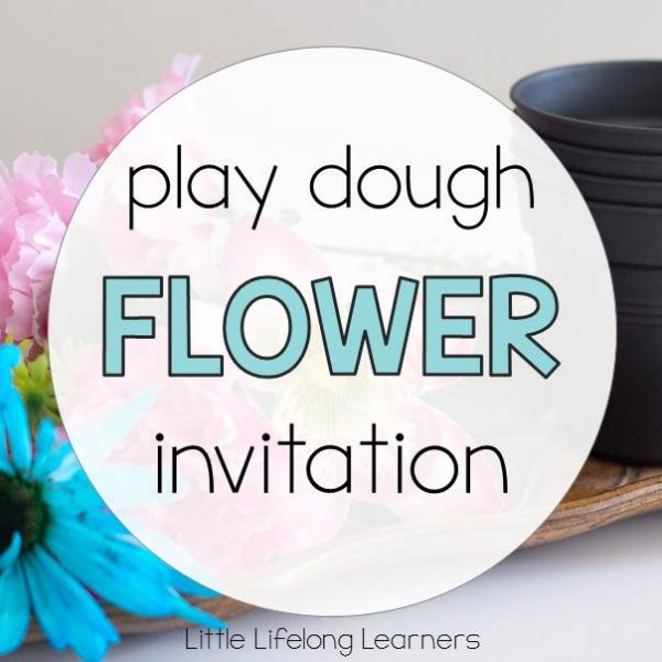 Play Dough Flower Invitation to Play