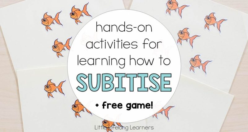 Hands-on activities for learning how to subitise