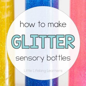 How to make a glitter sensory bottle