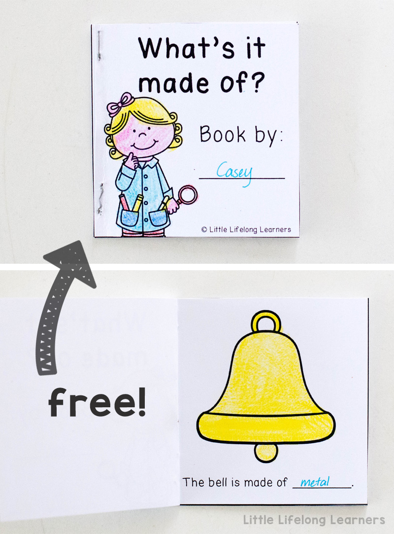 Science freebie for exploring objects and thier materials | Exploring materials and their properties | Foundation science unit | Prep, Kindergarten, Year 1 Unit of Work | Hands-on learning ideas and printables for the classroom | Objects can be made of different materials |