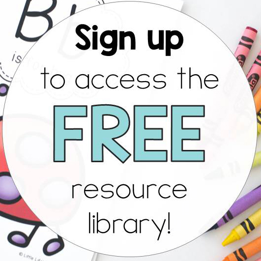Sign up to access the free resource library! | Free printables for early childhood teachers and parents